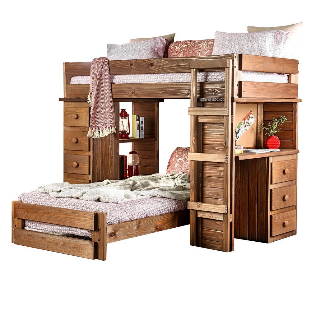 Beckford in Mahogany Twin Loft Bed