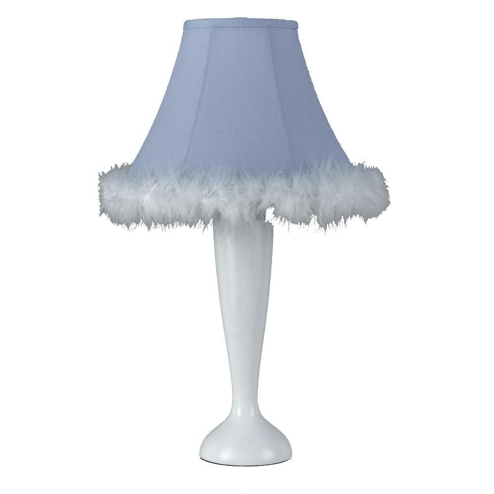 Filament Design Cooper 21 in. White Feather Boa Novelty Lamp