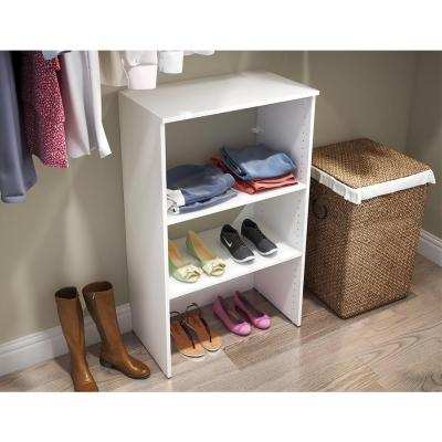 Style+ 25 in. W White Stackable Base Unit
