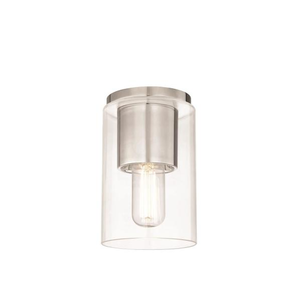 Lula 1-Light Polished Nickel Flush Mount with Clear Glass
