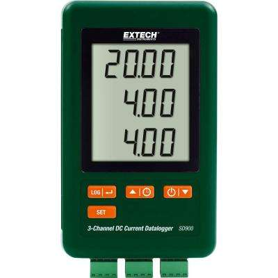 3-Channel DC Current (mA) Datalogger with NIST