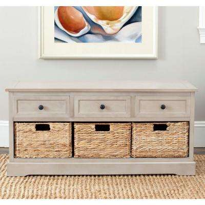 Damien 3-Drawer Wood Storage Unit in Vintage Grey