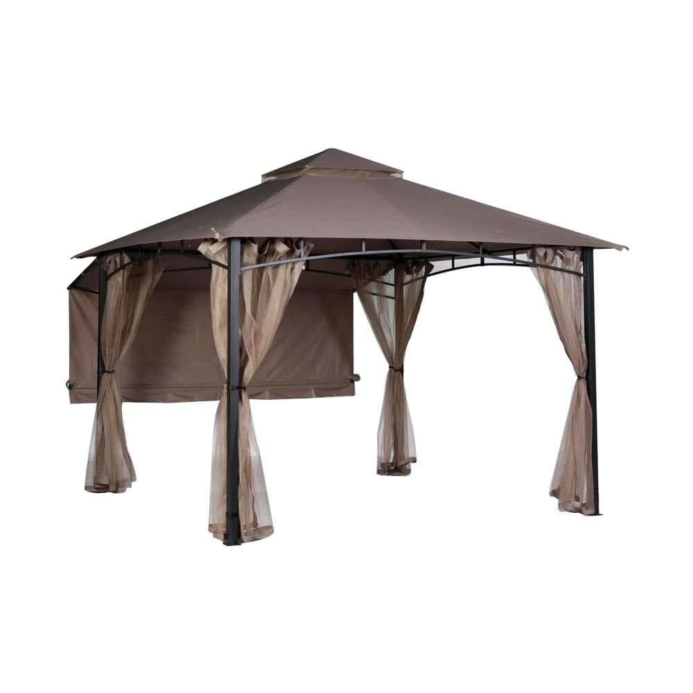 H&ton Bay Shadow Hills 10 ft x 10 ft Roof Style Garden House Awning-Replacement Canopy Only-5SGZ14051010-CP - The Home Depot  sc 1 st  The Home Depot & Hampton Bay Shadow Hills 10 ft x 10 ft Roof Style Garden House ...