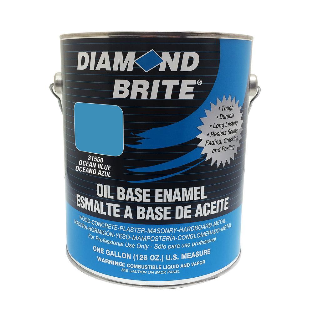 Diamond Brite Paint 1 gal. Ocean Blue Oil Base Enamel Interior/Exterior Paint