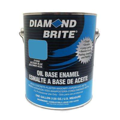 1 gal. Ocean Blue Oil Base Enamel Interior/Exterior Paint