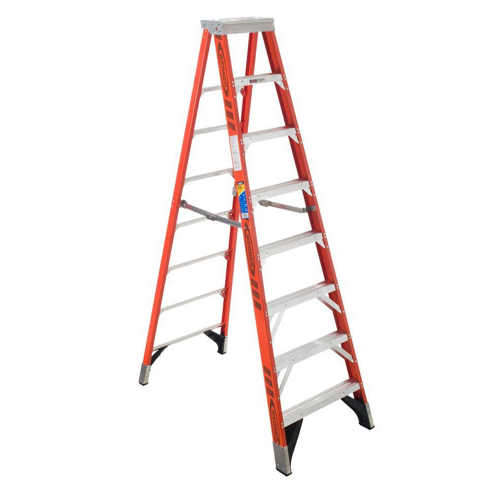 10 ft. Fiberglass Step Ladder with 375 lb. Load Capacity Type