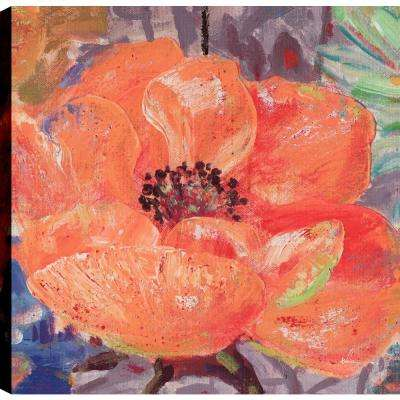 Orange Floral, Floral Art, Canvas Print Wall Art Dcor 24X24 Ready to hang by ArtMaison.ca