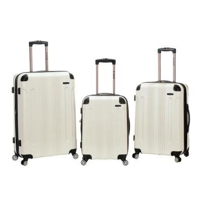 Rockland Sonic 3-Piece Hardside Spinner Luggage Set, White