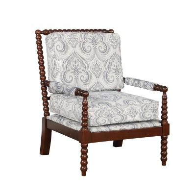 Bridgette Blue Spindal Wood Frame Chair