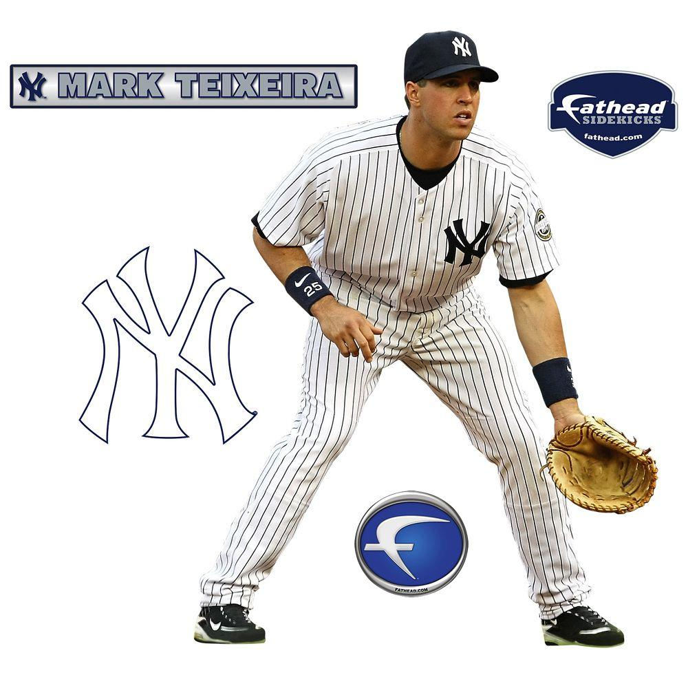Fathead 22 in. x 34 in. Mark Teixeira New York Yankees Wall Decal