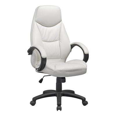 Workspace White Leatherette Executive Office Chair