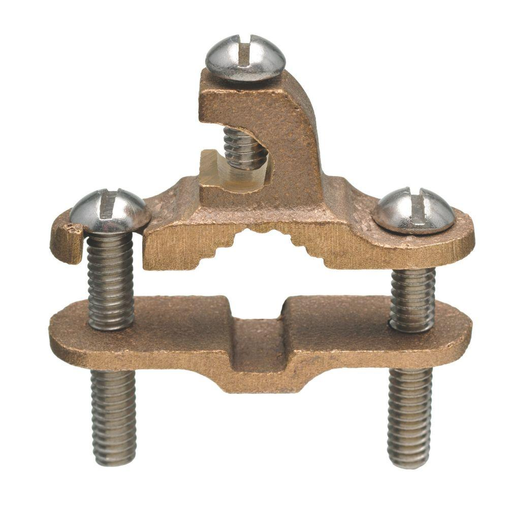Bronze Ground Clamp with Lay-In Lug 3/8 - 1 in.
