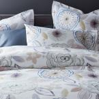 The Company Store Piper Floral Cotton Percale 300-Thread Count Full Fitted Sheet
