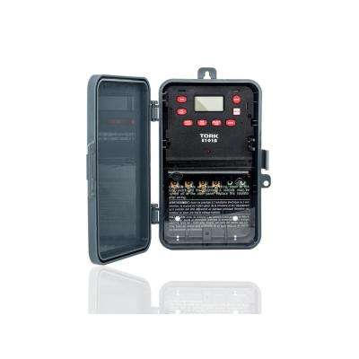 40 Amp 120-Volt to 277-Volt SPST 24-Hour Digital 1 Channel Timer Switch in Gray