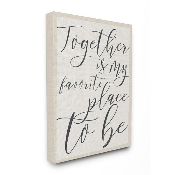 16 in. x 20 in. ''Together - My Favorite Place To Be'' by Daphne Polselli Printed Canvas Wall Art