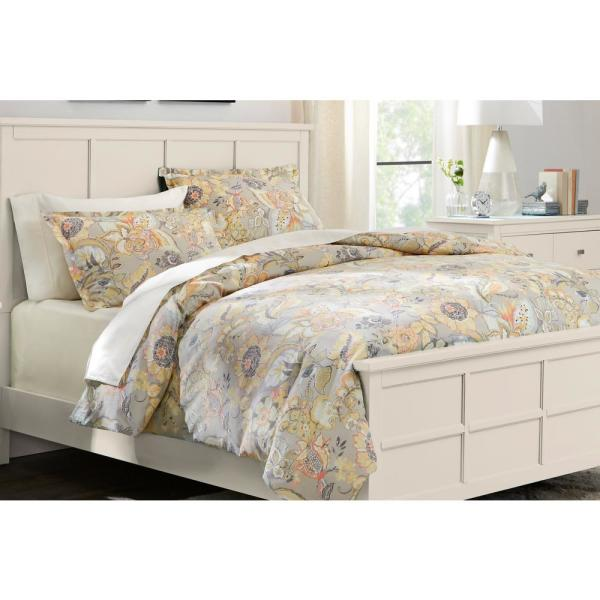 Tadhurst 3-Piece Floral Reversible Full/Queen Duvet Cover Set