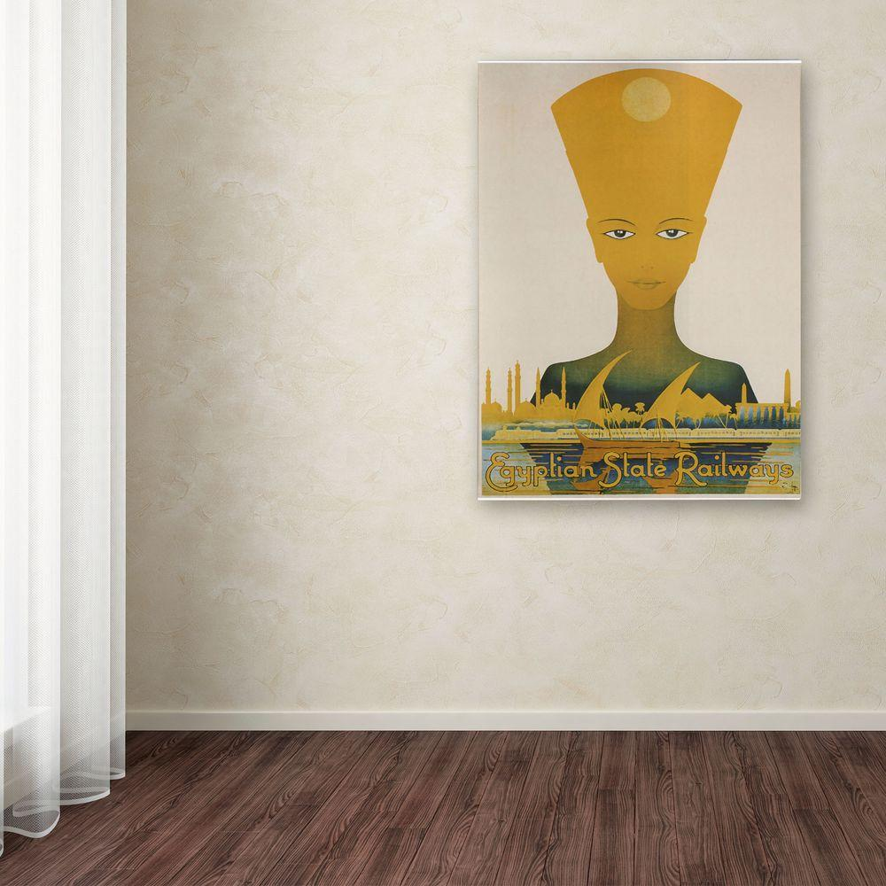 24 in. x 16 in. Egyptian State Railway Canvas Art