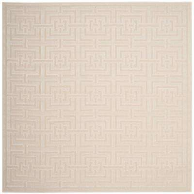 Cottage Cream 7 ft. x 7 ft. Indoor/Outdoor Square Area Rug