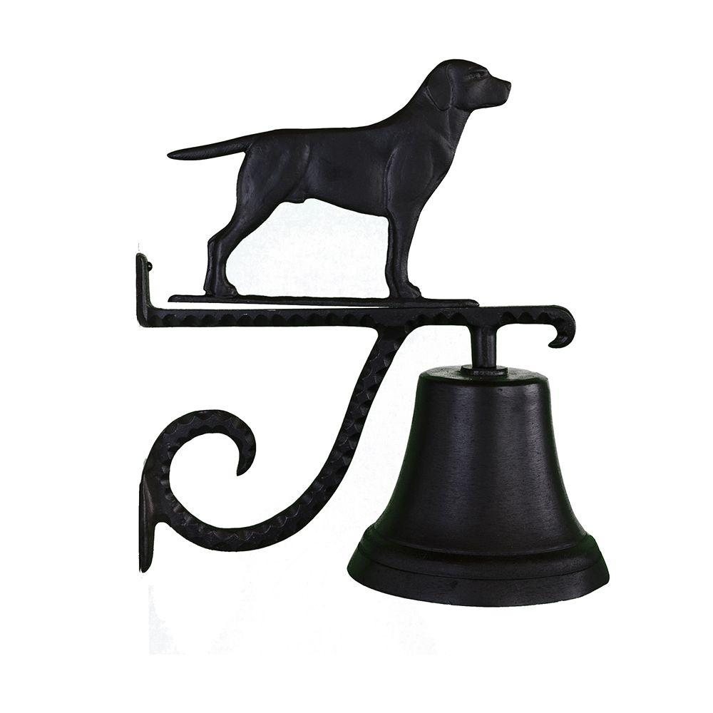 Cast Bell with Black Lab Ornament