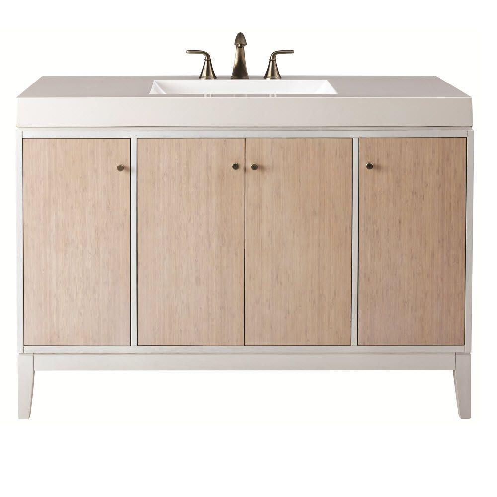 Home Decorators Collection Melbourne 49 In W X 22 In D Bath Vanity In White With Marble Vanity