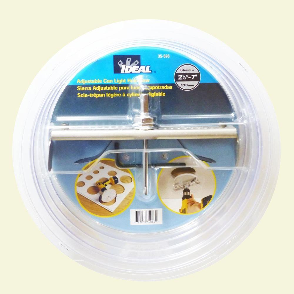 Ideal Adjustable Can Light Hole Saw