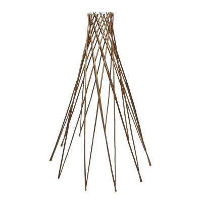 48 in. H Teepee Peeled Willow Flower/Plant Support