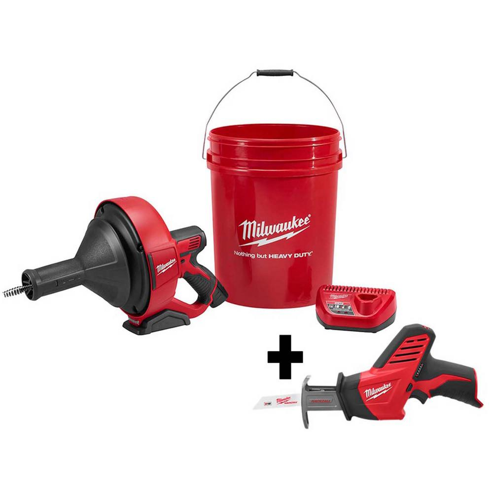 Milwaukee M12 12-Volt Lithium-Ion Cordless Auger Snake Drain Cleaning Kit with Free M12 HACKZALL Reciprocating Saw was $338.0 now $224.1 (34.0% off)