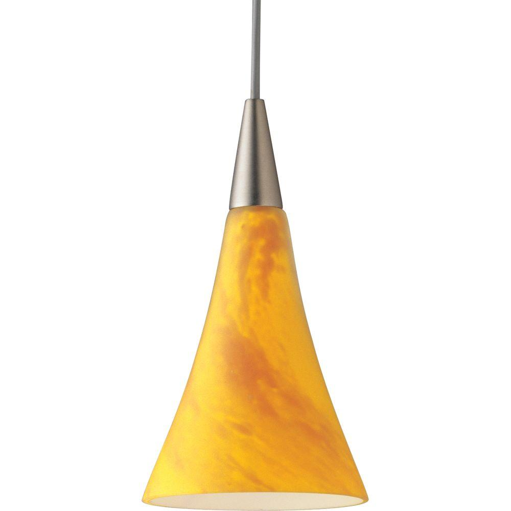 Progress Lighting Illuma-Flex 1-Light Brushed Nickel Pendant