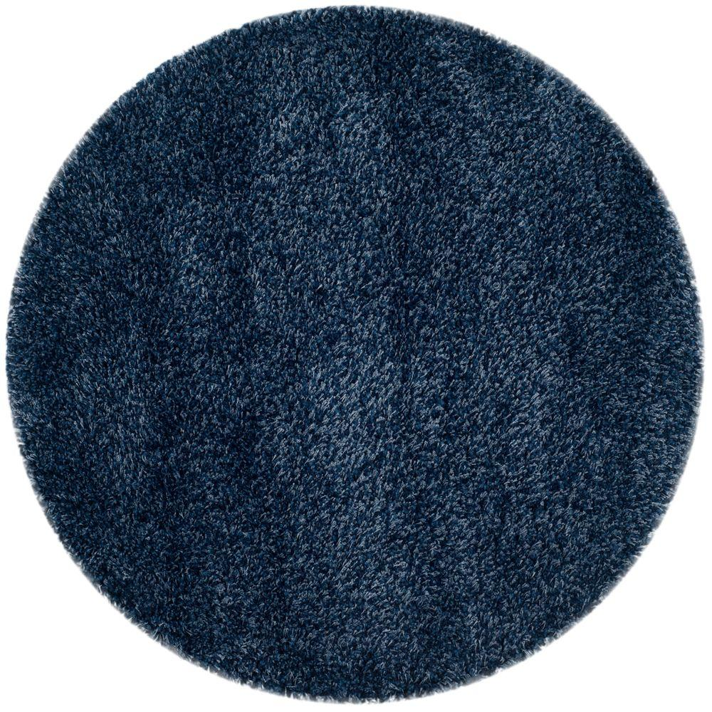 California Navy 4 Ft X Round Area Rug