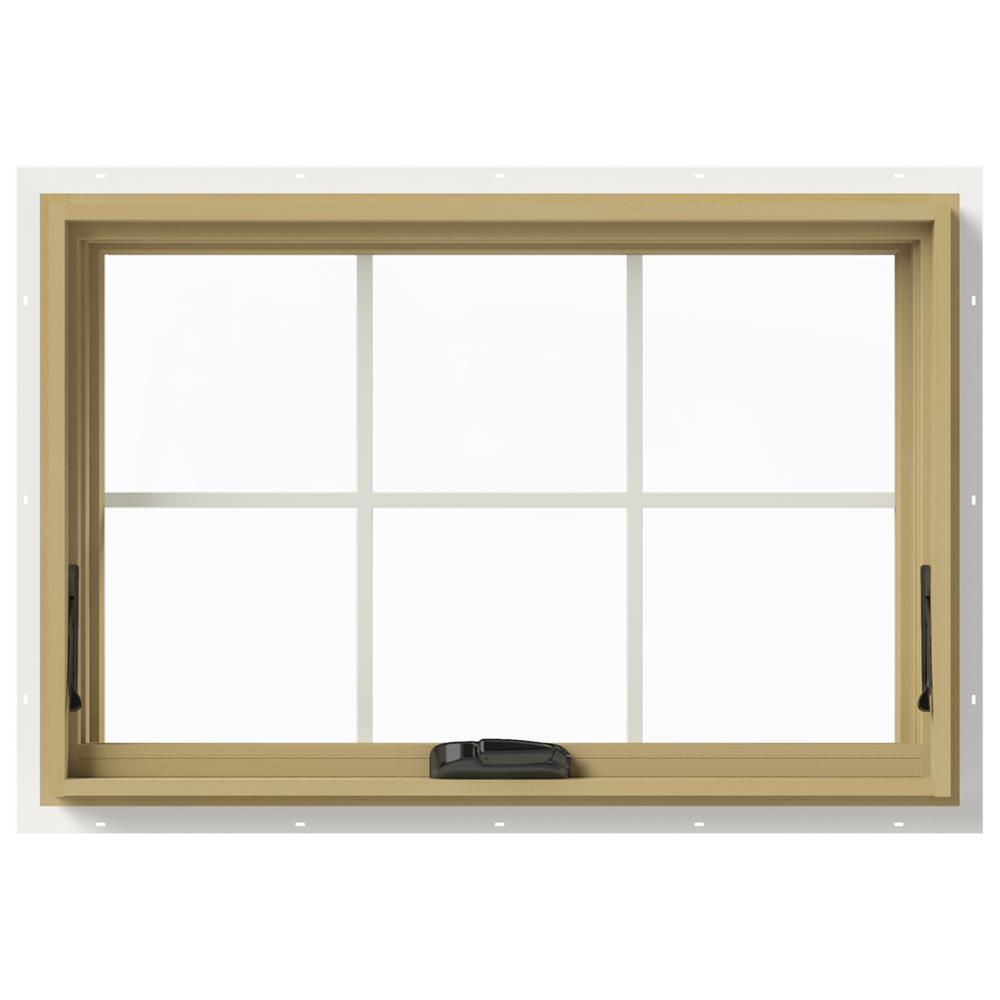 36 in. x 24 in. W-2500 Awning Aluminum Clad Wood Window