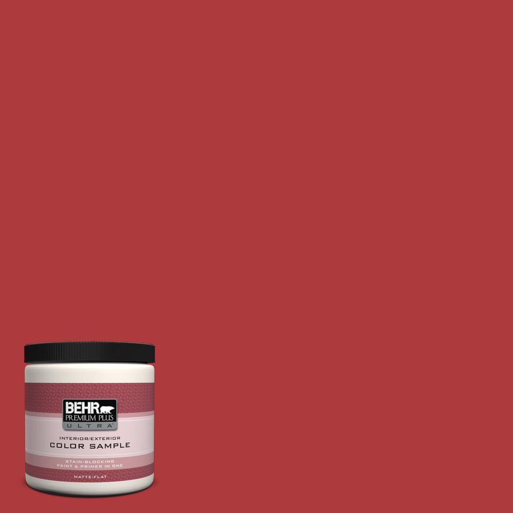 BEHR Premium Plus Ultra 8 oz. #HDC-WR14-10 Winter Poinsettia Flat/Matte Interior/Exterior Paint Sample
