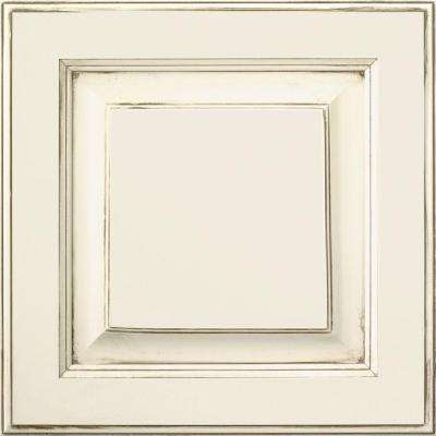 14.5x14.5 in. Villa Cabinet Door Sample in Cotton with Amaretto Creme