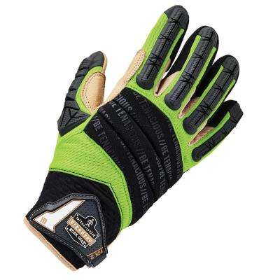 ProFlex Large Leather Reinforced Hybrid Dorsal Impact Reducing Gloves