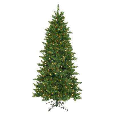 10 ft. x 62 in. Pre-Lit Eastern Pine Slim Artificial Christmas Tree Clear Lights
