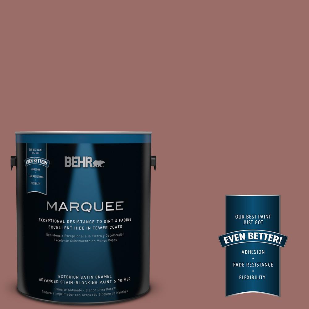 BEHR MARQUEE 1-gal. #170F-6 Gentle Doe Satin Enamel Exterior Paint