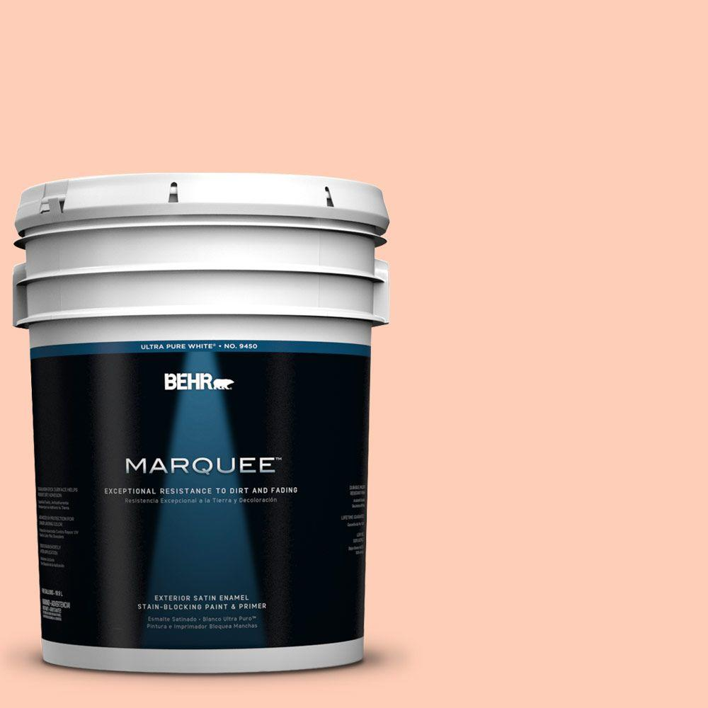BEHR MARQUEE 5-gal. #230A-3 Apricot Lily Satin Enamel Exterior Paint