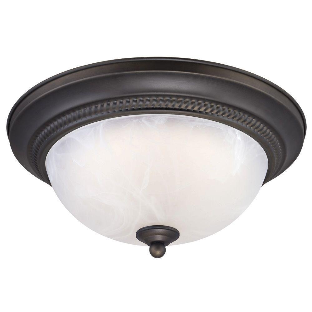 Bathroom Ceiling Light Fixtures Home Depot: Westinghouse Oil-Rubbed Bronze LED Ceiling Fixture-6400800