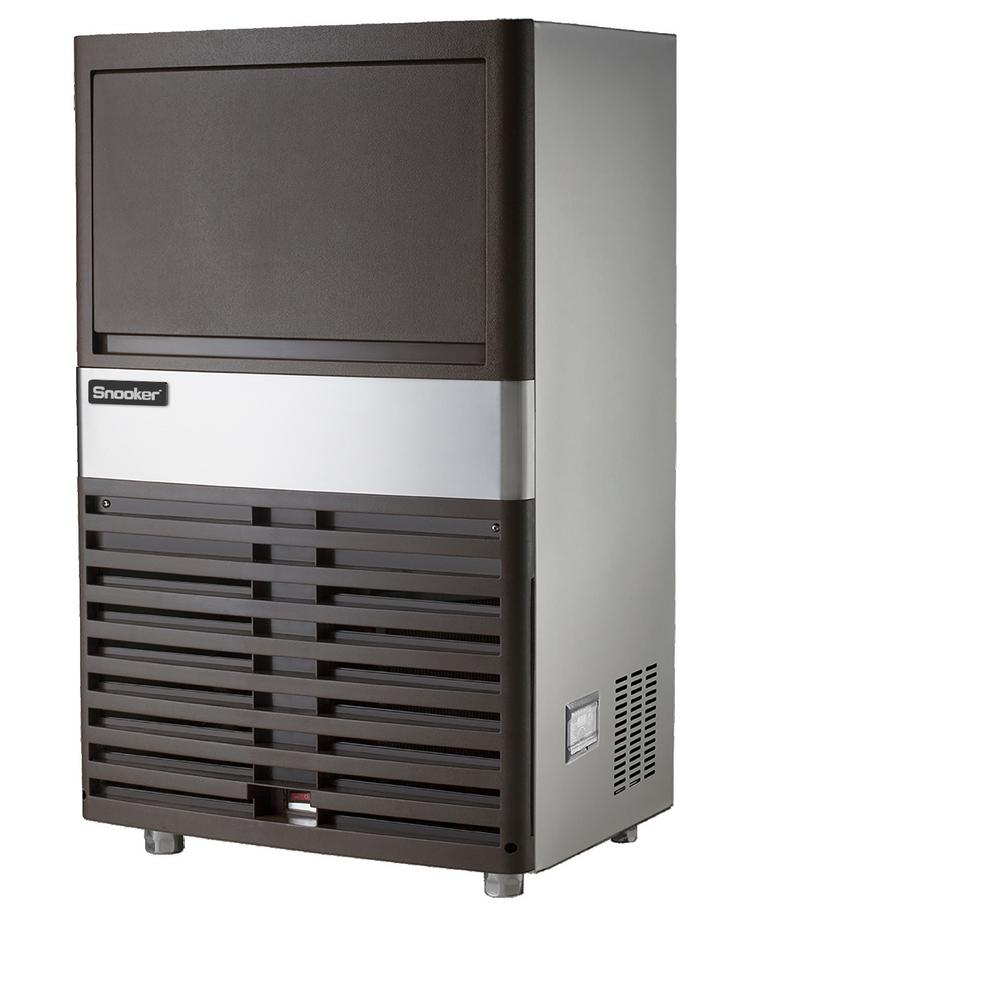 SNOOKER 80 lb. Freestanding or Built-In Ice Maker in Stainless Steel, Silver -  SK-80P