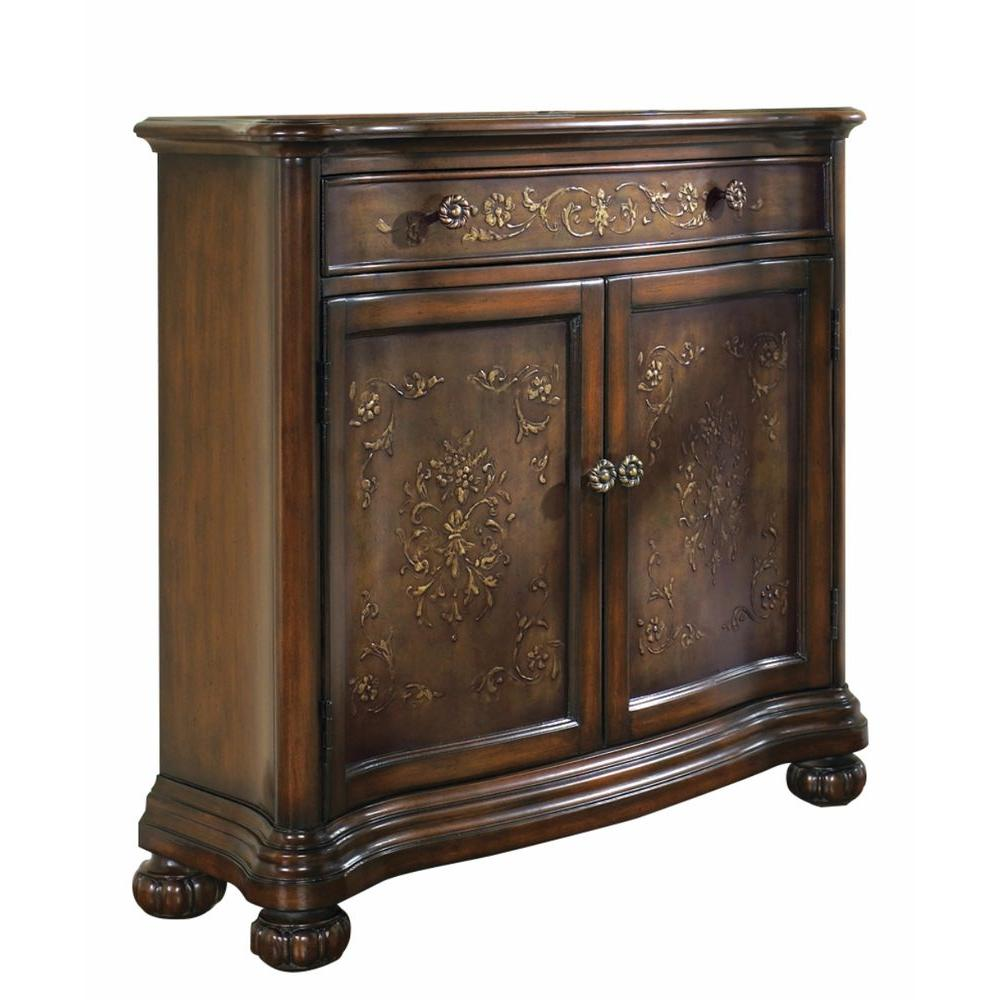 Pulaski Furniture 35 in. x 36 in. 2-Door Hand Painted Mahogany Accent Chest