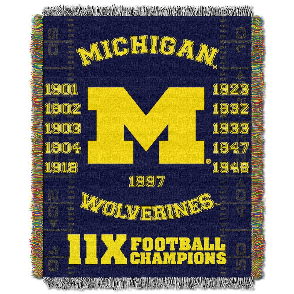 Michigan Multi-Color Tapestry Commemorative Series Throw