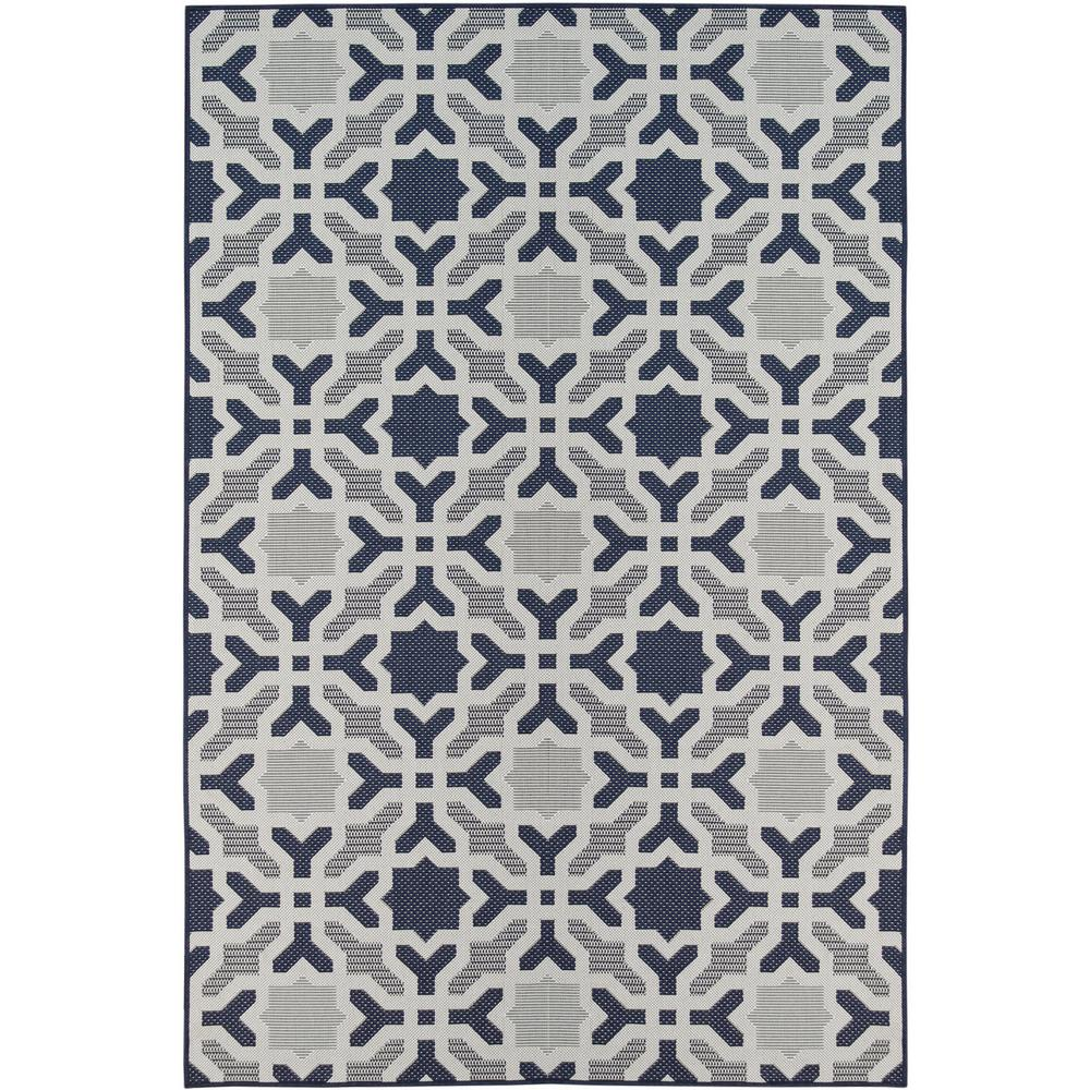 4deeff8fc0bf3 Laurel Home Navy 8 ft. x 10 ft. Indoor / Outdoor Area Rug-MF8006 - The Home  Depot