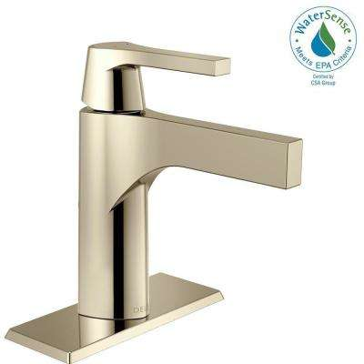 Zura Single Hole Single-Handle Bathroom Faucet in Polished Nickel
