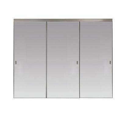 Polished Edge Mirror Solid Core Chrome MDF Interior Sliding Door