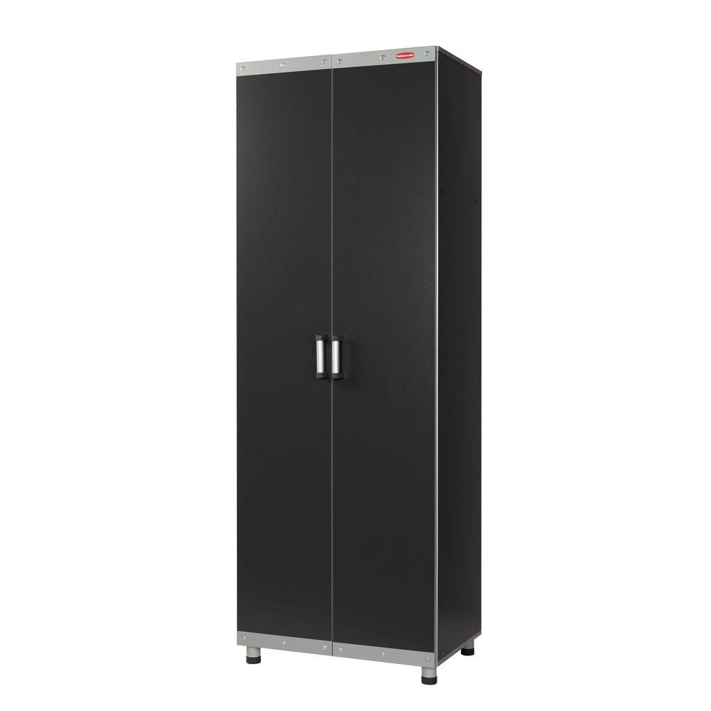 fasttrack d rubbermaid laminate cabinet free garage h x standing finish black gray trim with in cabinets tall w p