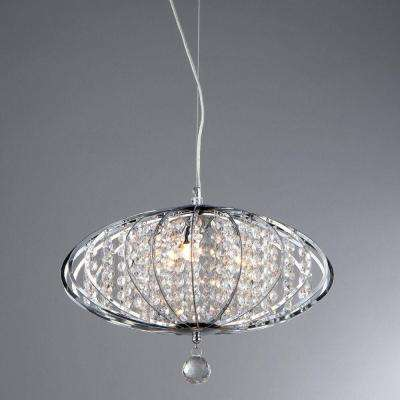 Pan 3-Light Chrome Chandelier with Shade