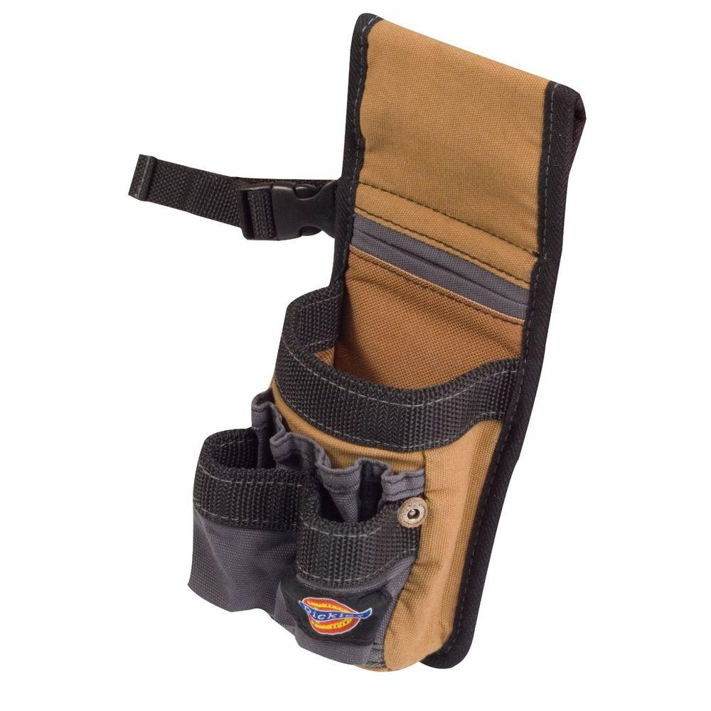 3-Pocket Pencil and Small Construction Tool Pouch / Holder, Tan