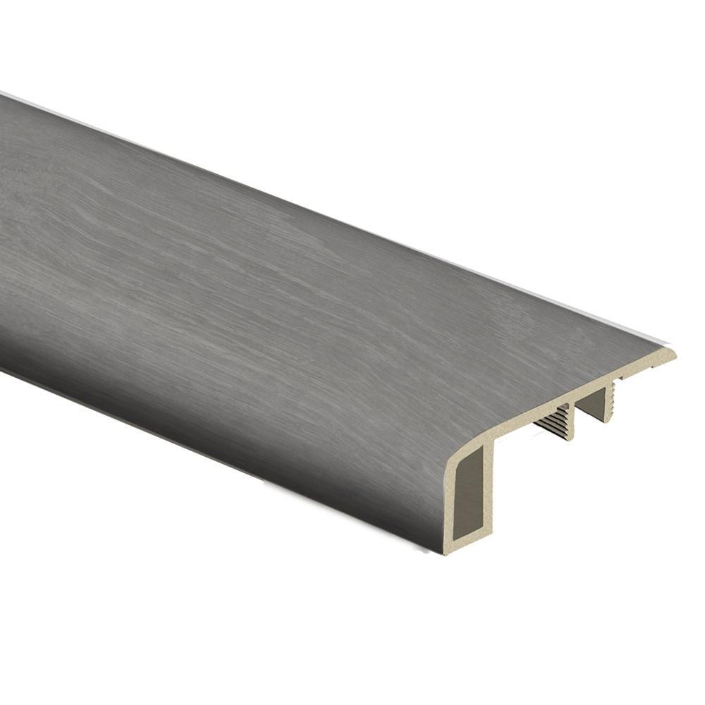 Dark Oak/Arezzo Dark 7/16 in. Thick x 1-3/4 in. Wide x 72 in. Length Vinyl Carpet Reducer Molding