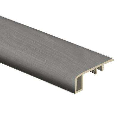 Woodacres Oak 7/16 in. Thick x 1-3/4 in. Wide x 72 in. Length Vinyl Carpet Reducer Molding