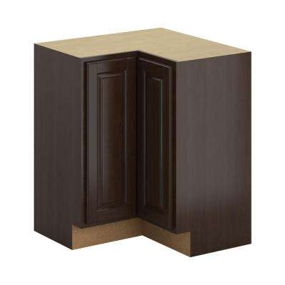 Madison Assembled 28.5x34.5x28.5 in. Corner Base Cabinet Espresso