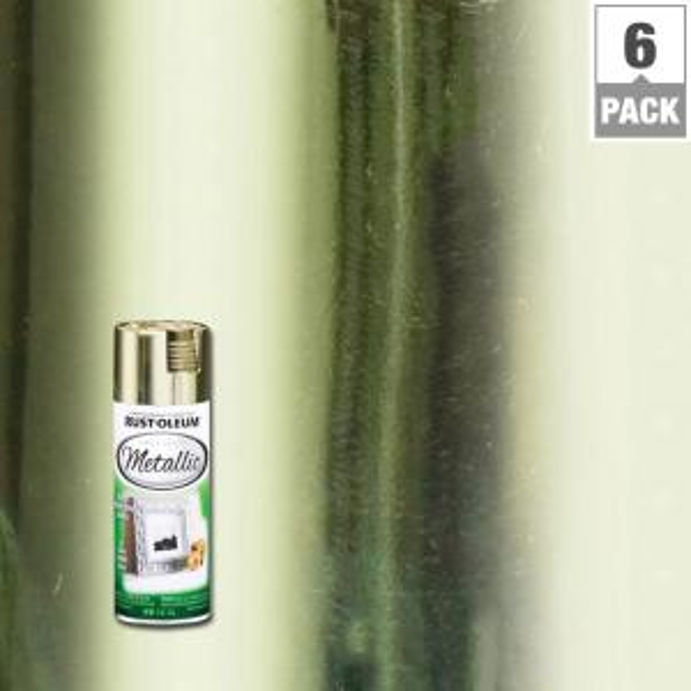 11 oz. Metallic Brass Spray Paint (6-Pack)